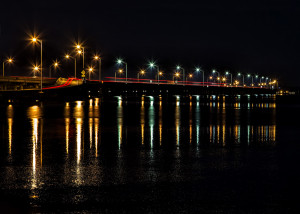 Light Trails on the Bayway